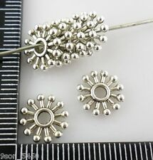 50pcs Tibetan Silver Hole:2mm Flower Spacer Beads 10mm For Jewelry Making