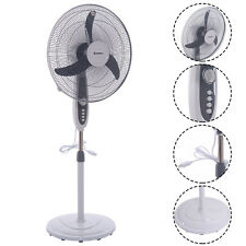 "20"" Pedestal Fan 3-Speed Oscillating Stand Floor Manual Control Timer Swing Head"
