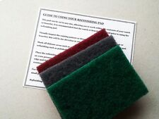 BEST VALUE 3 X VERY LARGE REFINISHING PADS WATCH SCRATCH REPAIR / REMOVAL TAG