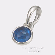 Authentic Pandora Silver December London Blue Crystal Droplet Pendant 390396NLB