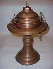 Vintage Chinese Copper Brass Bird Large 3 Pc Incense Smoke Burner Brazier w base