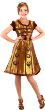 *NEW* Dr Doctor Who - Gold DALEK Dress Women's Adult Costume - Large / XL Ladies
