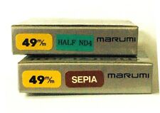 Marumi 49MM Special Effects filter set, 1-Sepia, 1- Half ND4 Open to offers!