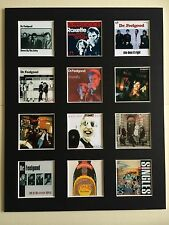 "DR FEELGOOD DISCOGRAPHY 14"" BY 11"" LP COVERS PICTURE MOUNTED READY TO FRAME"