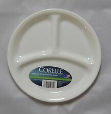 4 New Corelle Winter Frost White Medium Divided Plates 8.5""