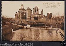 1659.-MONASTERIO DE POBLET -2 Vista de Torres desde el Lago de S. Bernardo