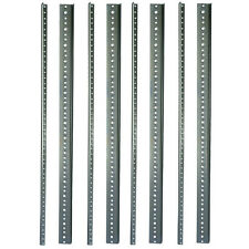 "Rack Rail 8 each 16 U space, 28"" 10/32 Standard thread zinc plated"