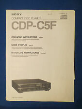 SONY CDP-C5F CD OPERATING MANUAL FACTORY ORIGINAL ENGLISH FRENCH SPANISH