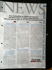 FUCHS NEWS Neue Rücklauffilter für Lademaschienen Farbprospekt