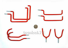 8pc Screw In STORAGE HOOKS Ladder Garden Tool Hose Bike Garage Shed Wall Hanging