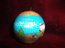 "ZIGGY & FUZZ Vintage 1982 Christmas Satin Ball Ornament 3"" great condition"
