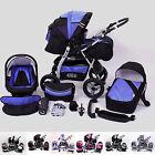Kombikinderwagen,Kinderwagen VIP, mit Babyschale,Lieferbar in 48 Farben