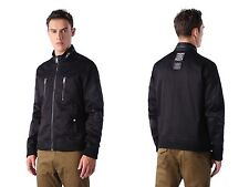 NWT Diesel J-MADARA-2 Mens MOTO Bomber NYLON Black Jacket M MEDIUM $298