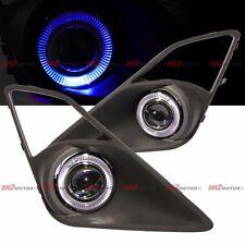 Blue LED DRL Halo Angel Eyes Projector Fog Lights Lamps Kit Fits FRS BRZ