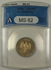 1958-J West Germany 1M Mark Coin ANACS MS-62 OLD HOLDER JA