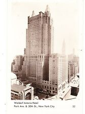 NEW WALDORF ASTORIA HOTEL. 47 STORIES NOW OWNED BY CHINESE  CO. REAL PHOTO PC NY