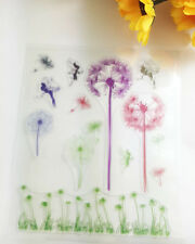 1 Sheet Silicone Transparent Stamp Seal Dandelion Scrapbooking Album