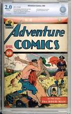 Adventure Comics # 49  Early Sandman story !  CBCS 2.0 rare Golden Age book !