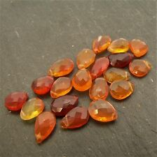 Mexican Fire Opal AA Faceted Pear Briolette (per bead) Semi Precious Gem