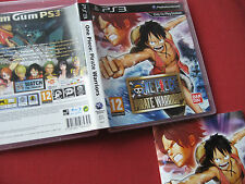 PS3/Sony Playstation 3-One Piece Pirate Warriors-Solo Manual + Caja del juego