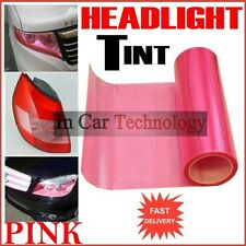 PINK Headlights Tail Fog Lights Tinted Vinyl Film Car Van Tint Wrap 30cm x 60cm