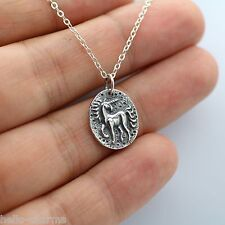 ANCIENT UNICORN COIN NECKLACE - 925 Sterling Silver - Unicorn Charm Necklace NEW