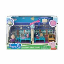 NEW Peppa Pig Deluxe School House 92608 Playset (Peppa Zoe Zebra Madame Gazelle)