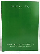 Catalogue de vente Objets d'art anciens Meubles et sièges Salle n°8 18 mars 1977