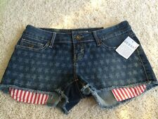 Guess American Flag Jean Shorts Size 29 New With Tags