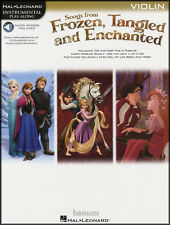 Songs from Frozen, Tangled & Enchanted Violin Instrumental Play-Along Music Book