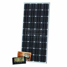 150W dual battery solar kit for camper boat 10A dual battery controller 5m cable