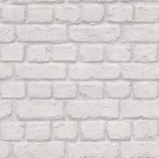RASCH WHITE BRICK EFFECT FEATURE BRICK WALL DESIGN  WALLPAPER 226706 FROM  RASCH