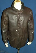 EDDIE BAUER Brown Leather Goose Down Filled Jacket  Mens, Size XL