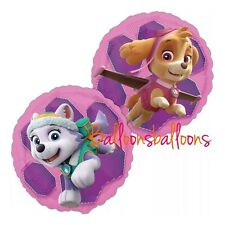 """Paw Patrol Pink Skye And Everest 18"""" Foil Balloon Helium Party Birthday Anagram"""