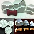 3pcs Bow Bowknot Cake Icing Decorating Cookie Plunger Cutter Fondant Mold Mould