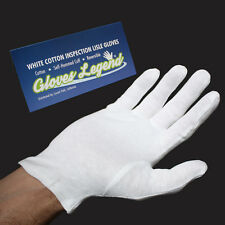 6 Pairs Premium Weight White Coin Jewelry Inspection Cotton Lisle Gloves Size XL
