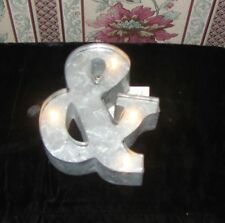 """New Studio Marquee Decor LETTER """"&"""" Light Up Industrial Galvanized Ampersand"""