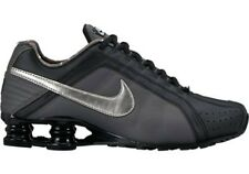 NIKE WOMEN RUNNING SHOES SHOX JUNIOR SIZE 8 BLACK GRAY SILVER NEW 454339-020