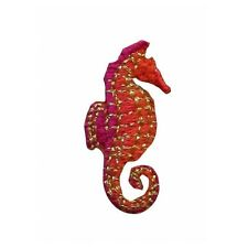 ID 0297 Tiny Seahorse Patch Ocean Life Sea Embroidered Iron On Applique