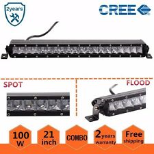 """3D Lens 21"""" 100W COMBO LED WORK LIGHT BAR Offroad DRIVING 4WD JEEP CREE"""