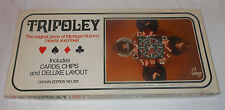 Vintage 1969 Cadaco Tripoley Crown Edition #225 Deluxe Mat Chips Aviator Cards