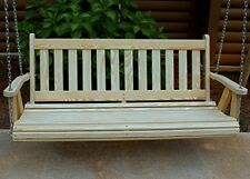 MISSION Style Amish Heavy Duty 700 Lb 4ft. Treated Porch Swing- Made in USA