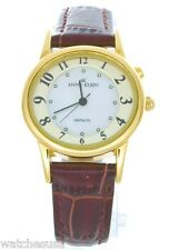 Anne Klein Women's 10/7160MPBI Gold-tone Case Brown Leather Band Watch