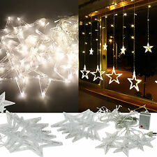 LED Curtain Net Fairy String Light +12 Amazing Stars Starry Christmas Xmas Decor