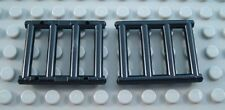 LEGO Lot of 2 Black 1x4x3 Window Bar Pieces