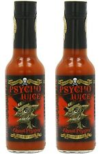 Dr Burnorium Set Of 2 Psycho Juice 70% Ghost Pepper Naga Very Hot Chilli Sauce