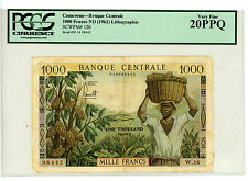 Cameroun … P-12 … 1000 Francs … ND(1962) … *VF*