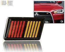 JDM BLACK/RED/YELLOW 2-TONE RALLIART STRIPE BAR GRILLE BADGE EMBLEM MITSUBISHI