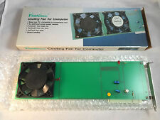 """New Computer PC Cooling Fan Card 5"""" Vintage 286 386 486 ISA Slot Powered FanCard"""