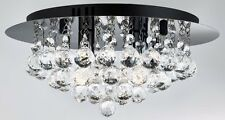 4-light Hanna Crystal & Black Chrome Ceiling Light (820105) LIMITED EDITION